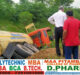 Gas filled capsule truck overturns on service road of Yamuna Expressway#agranews