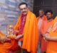 International President of Juna Akhara Shri Shri 1008 Prem Giri Maharaj came to Agra#agranews