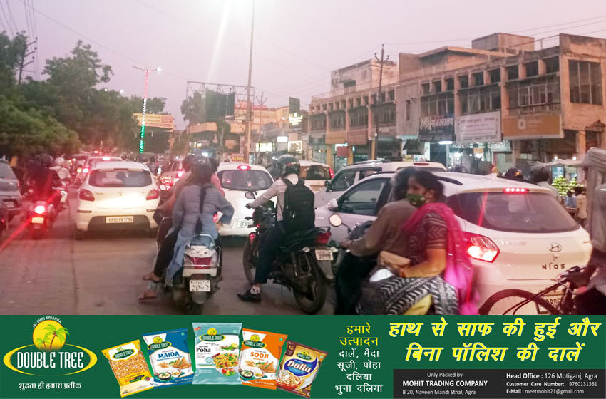 Jam in Agra: There was jam in Agra from morning till evening on Tuesday#agranews
