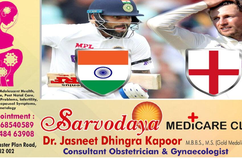 Corona's shadow on India-England cricket test series