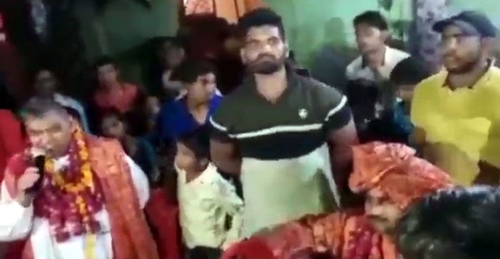 Video of former MLA Chhotelal Verma viral on social media..#agranews